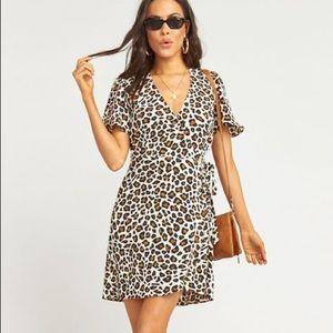 NWT Show Me Your Mumu Cheetah Wrap Dress